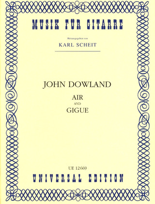 John Dowland: Air and Gigue für Gitarre