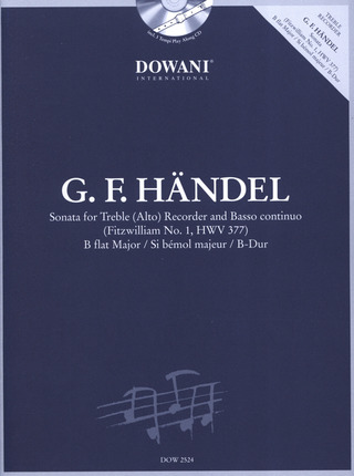 George Frideric Handel: Sonata B-flat major (Fitzwilliam No.1 HWV 377)