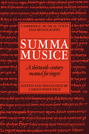 Christopher Page: Summa Musice