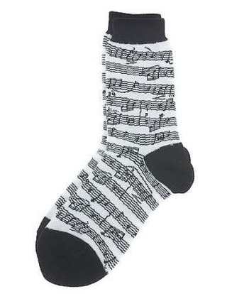 Women's Socks: Sheet Music (Black/White)