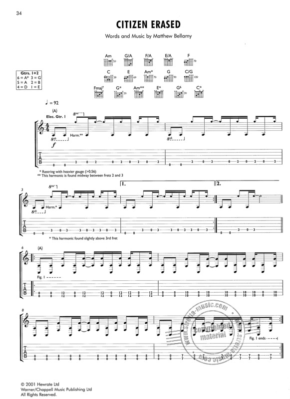 Muse The Guitar Songbook Buy Now In The Stretta Sheet Music Shop