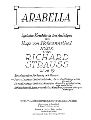 Richard Strauss: Arabella op. 79