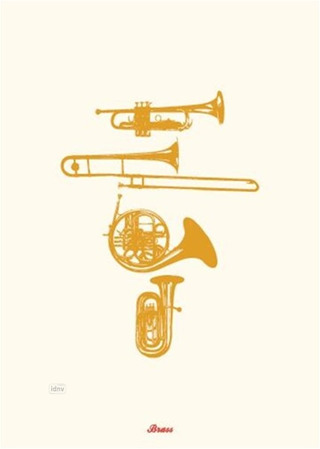 Brass Instruments - Greeting Card