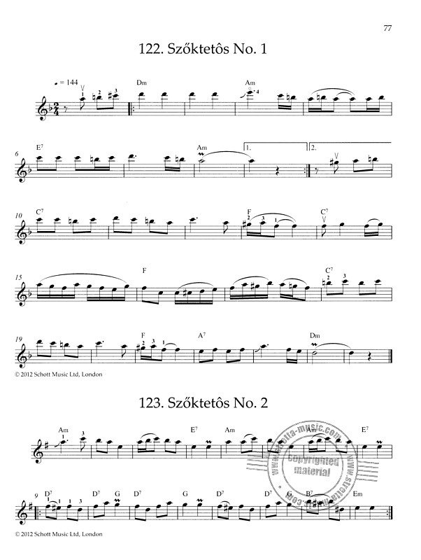 Hungarian Fiddle Tunes (8)