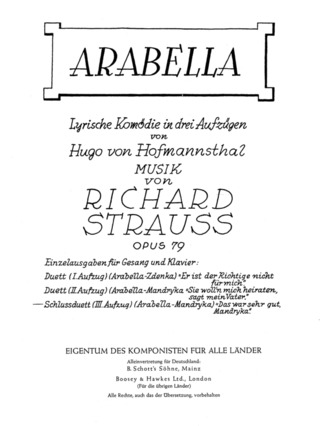 Richard Strauss: Arabella (1932)