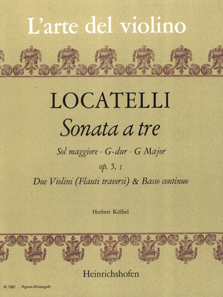 Pietro Antonio Locatelli: Triosonate G-Dur op. 5 Nr. 1