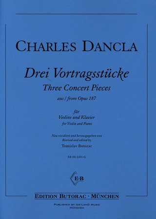 Charles Dancla: Three Concert Pieces from Opus 187