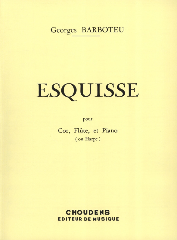 Georges Barboteu: Esquisse