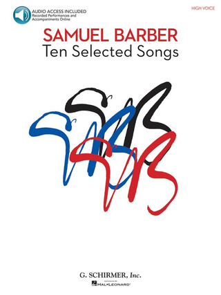 Samuel Barber: 10 Selected Songs – High Voice