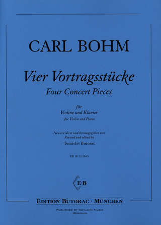 Carl Bohm: Four Concert Pieces