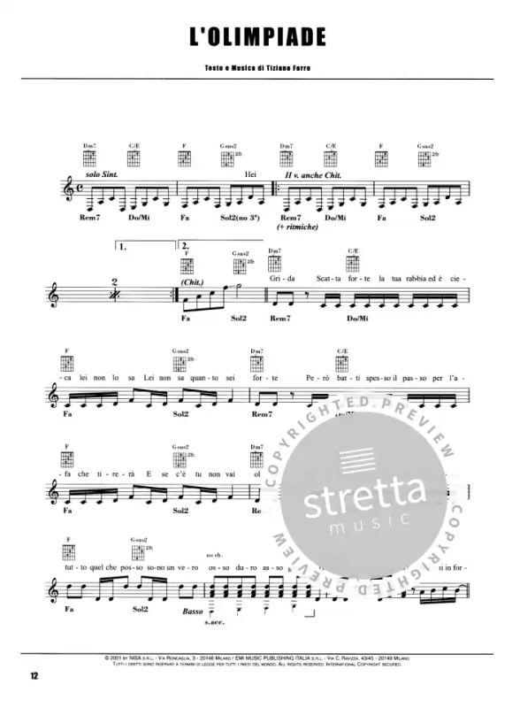 Successi From Ferro Tiziano Buy Now In Stretta Sheet Music