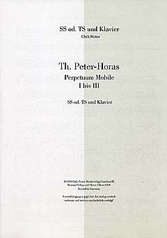 Thomas Peter-Horas: Perpetuum Mobile 1-3
