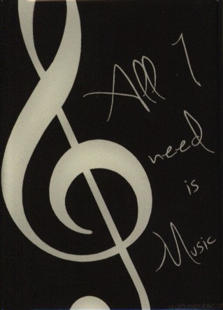 "Magnet ""All I need is Music"""