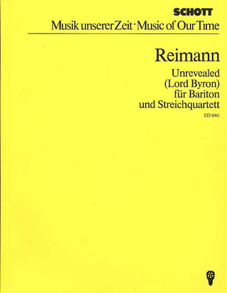 Aribert Reimann: Unrevealed (1979-80)