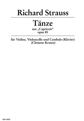 Richard Strauss: Tänze op. 85 (1941)