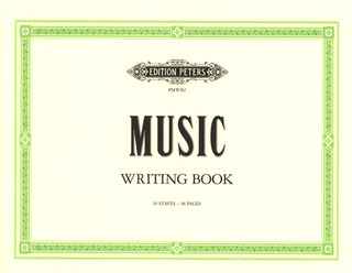 Peters Music Writing Book – groß