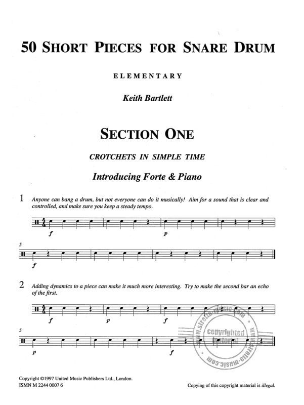 Keith Bartlett: 50 Short Pieces For Snare Drum (1)