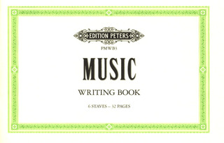 Peters Music Writing Book - klein