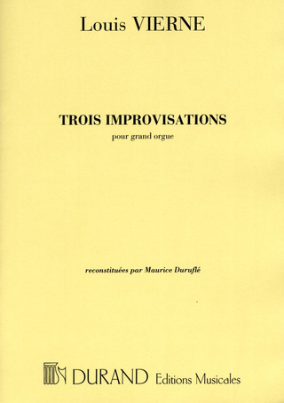 Louis Vierne: 3 Improvisations