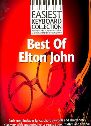 Elton John: Easiest Keyboard Collection: Best Of Elton John Kbd Book