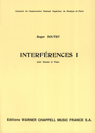 Roger Boutry: Interferences 1