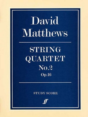 Matthews David: String Quartet 2 Op 16