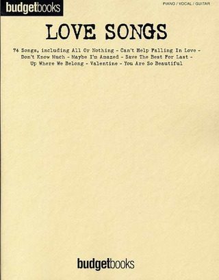 Budgetbooks Love Songs