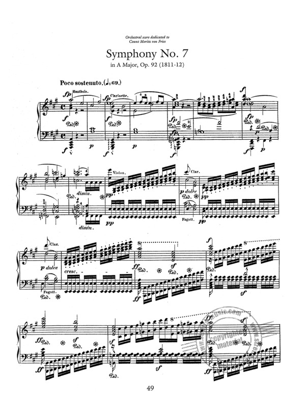 Beethoven Symphonies 6-9 Transcribed For Solo Piano By Liszt
