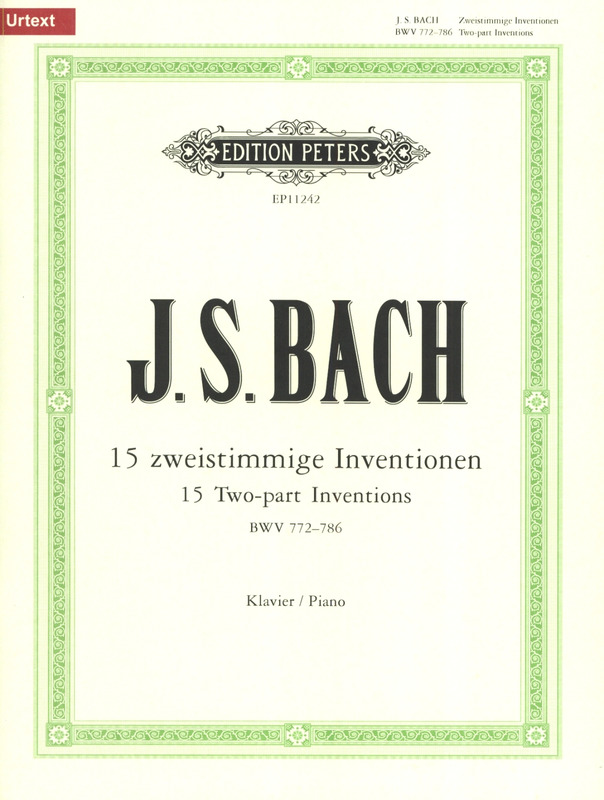 Johann Sebastian Bach: 15 Two-part Inventions BWV 772–786