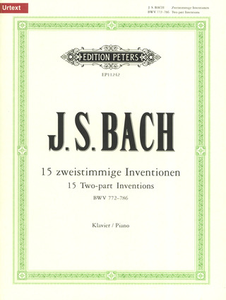 Johann Sebastian Bach: 15 Two-part Inventions BWV 772-786