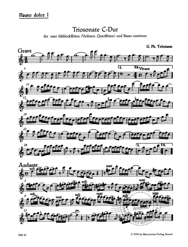 Georg Philipp Telemann: Trio Sonata in C major (3)