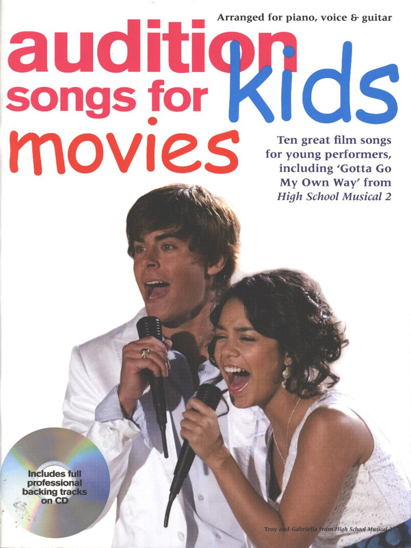 Audition Songs For Kids Movies Pvg Book/Cd