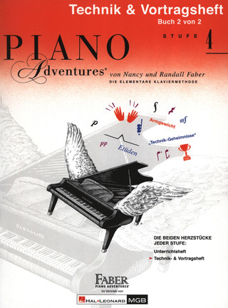 Nancy Faber et al.: Piano Adventures 4 – Technik- + Vortragsheft
