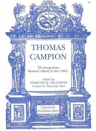 Thomas Campion: Songs from Rosseter's Book of Ayres