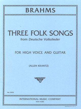 Johannes Brahms: Three Folk Songs
