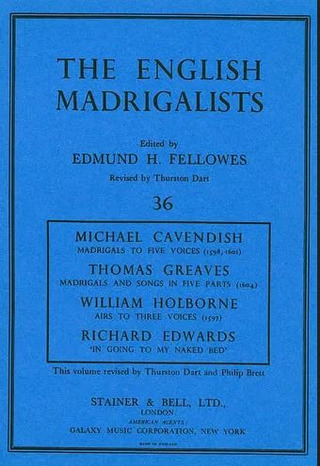 Michael Cavendish y otros.: Madrigals by Michael Cavendish, Thomas Greaves, William Holborne and Richard Edwards