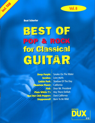 Best of Pop & Rock for Classical Guitar 8