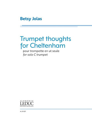 Betsy Jolas: Trumpet thoughts for Cheltenham