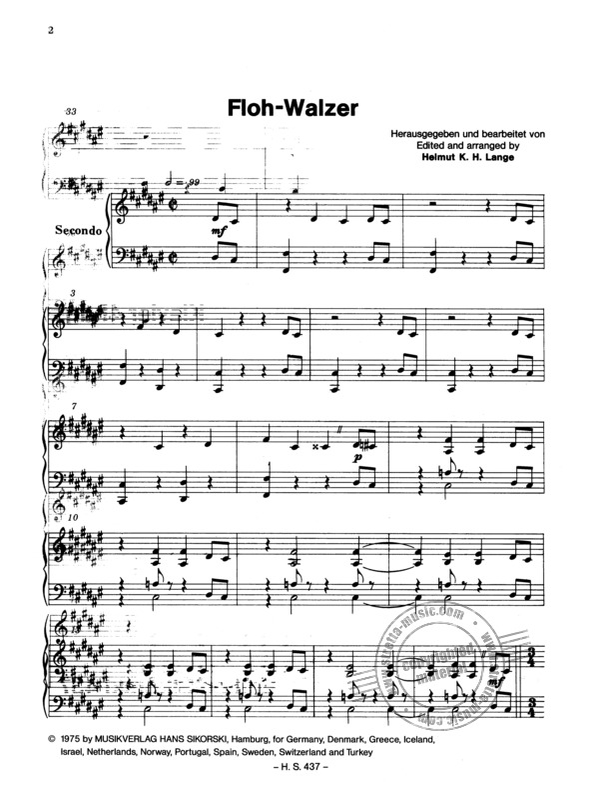 Flohwalzer sheet music