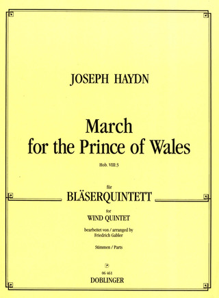 Joseph Haydn: March for the Prince of Wales Hob VIII: 3