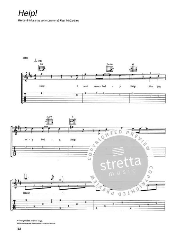 The Beatles for Easy Classical Guitar Noten Tab für klassische Gitarre leicht