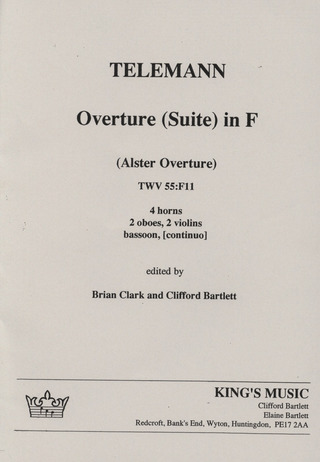 Georg Philipp Telemann: Ouverture (Suite) in F