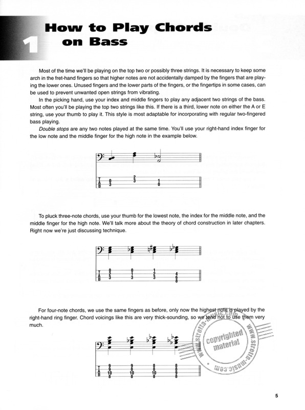 Hauser, Dominik: Chords for Bass (1)