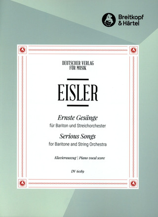 Hanns Eisler: Serious Songs