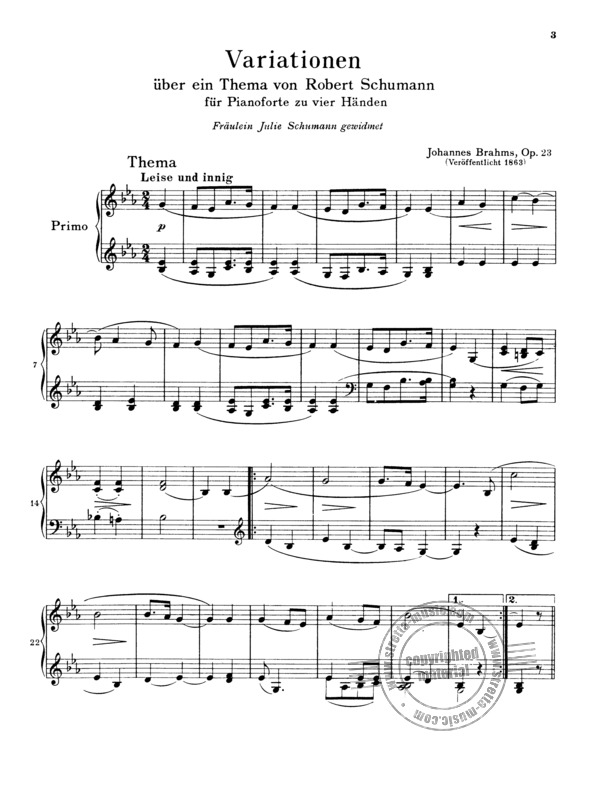 Johannes Brahms: Complete Piano Works For 4 Hands (2)
