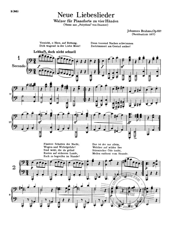 Johannes Brahms: Complete Piano Works For 4 Hands (5)
