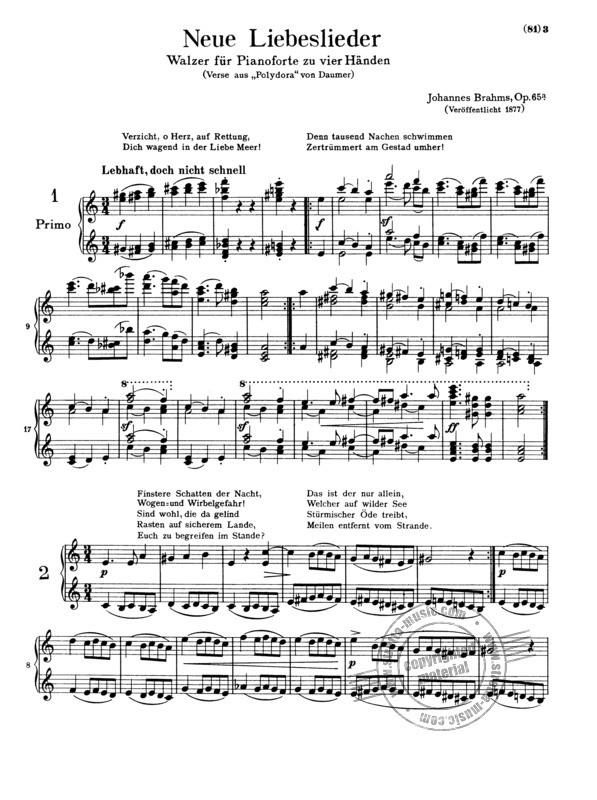 Johannes Brahms: Complete Piano Works For 4 Hands (6)