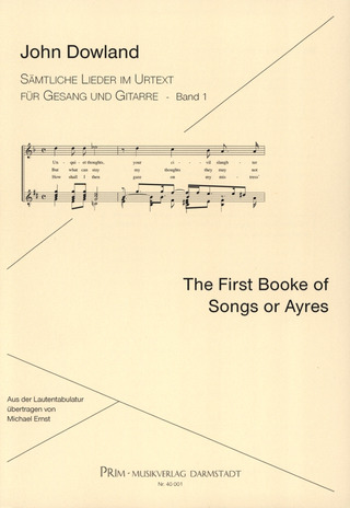 John Dowland: First Booke of Songs and Ayres