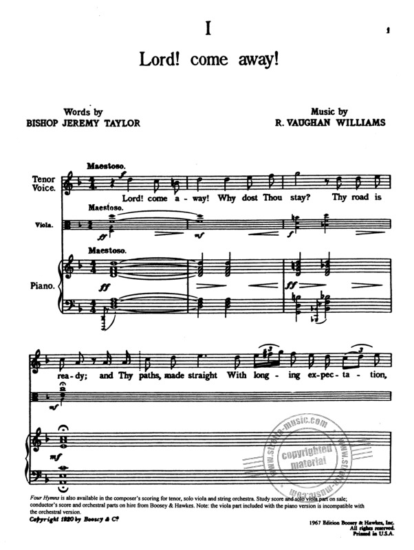 Ralph Vaughan Williams: Four Hymns (1)