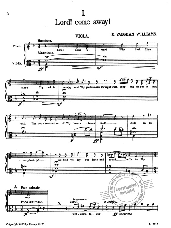 Ralph Vaughan Williams: Four Hymns (3)